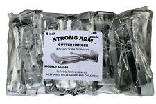 "Quick Screw 5"" 100 Pack Heavy Duty Hidden Rain Gutter Bracket Hook Hangers"