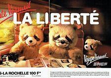 Publicité Advertising 067  1986  SNCF train ( 2p) Paris La Rochelle carte vermei