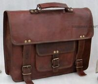1 Bag Brown Vinatge Leather Side Pouch Motorcycle Side Pouch Saddlebags Panniers