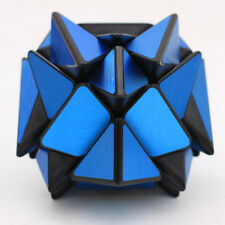 Blue Metal Wire drawing sticker Turbo master Skewb Axis Magic Cube Twist Puzzle
