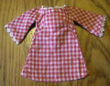 Vintage Red and White Checked Mod Clone Dress fits Barbie Babs Lilli Suzette NM
