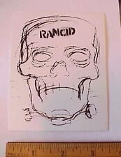 Rancid Skull Head Skeleton Peel-Off Sticker