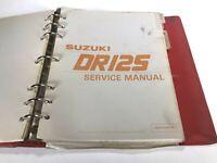 Suzuki DR125 Factory Service Manual Repair Book OEM 99500-41080-03E (no binder)