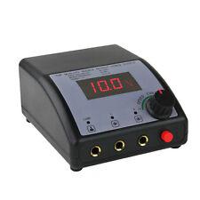 Tattoo Supplies LCD Digital DUAL Tattoo Machine Power Supply with Power Cord NEW