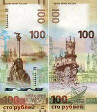Rusia 100 rublos 2015 Conmemorativo reunión Crimea Sebastopol UNC Nuevo