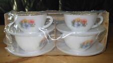 un lot de 4 tasses arcopal anémones neuf vintage