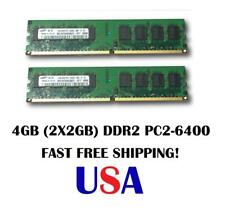 4GB DDR2 PC2-6400 PC 6400 800 Mhz 240Pin LOW DENSITY RAM 2x 2GB Desktop Memory