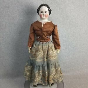 "23"" lovely antique German Kestner China Shoulder Head Doll with repair for TLC"