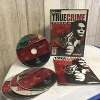 True Crime Streets Of LA PC Video Game Shooter Action Complete Original Big Box