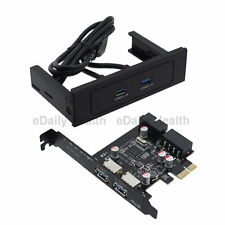 "5.25"" CDROM Bay USB 3.0 Front Panel Ports with expansion NEC PCI-E Express Card"