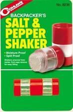 Coghlans Mini Compact Salt & Pepper Shakers Set Camping Lunchbox Fishing Hunting
