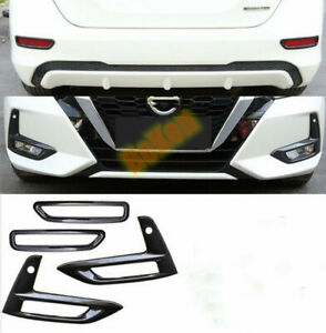 For Nissan Sentra 2020+ ABS Carbon style Front Fog Light & after Lamp Cover Trim