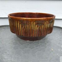 HAEGER POTTERY USA 157 BOWL BROWN MID CENTURY MODERN VINTAGE