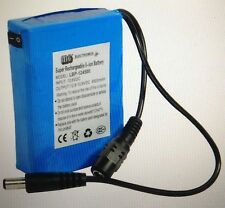 Lithium-Ion Li-Ion CCTV Camera Rechargeable Battery Pack & Charger 12v 4500mAH