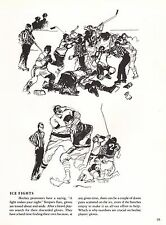 """LEROY NEIMAN BOOK PRINT """"ICE FIGHTS"""" SKETCHES OF FIGHTS ICE HOCKEY FREE-FOR-ALLS"""