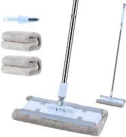 Microfiber Floor Mop for Floor Cleaning, Hardwood Floor Mop with 2 Washable Pads