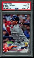 2018 Topps Series 1 Rafael Devers RC #18 Batting PSA 10 Gem Mint Card Rookie