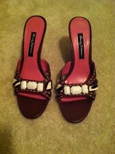 3c82acaae9f1 Ladies Beverly Feldman multicolor slide in heel sandals size 8 1/2 Medium