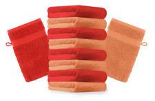 Betz 10er Pack Waschhandschuhe Premium Farbe: Orange & Rot Größe: 16x21 cm