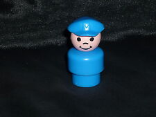 Fisher Price Little People Vintage Pilot Mailman Boy Blue Hat Cap