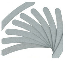 10X Grey Nail Files Sanding 100/180 Curve Banana for Nail Art Tips Manicure Hv
