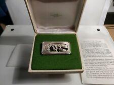 1972 Solid Sterling Sliver Franklin Mint Christmas Ingot -Yule Log