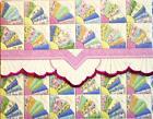 """For Art Sake E0 Carol Wilson Art 4""""X5"""" Cards Fan Quilt Portfolio NCP2357"""