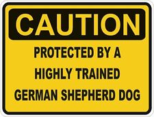 Dog Breed German Shepherd Dog Caution Sticker Pet for Bumper Car Door Laptop