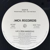 Eazy E Luv 4 Dem Gangsta'z Vinyl Record Orginal 1994 Sealed Promo