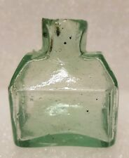 Lovely crude Victorian unusual plain  (cottage shape ) ink bottle c1890's