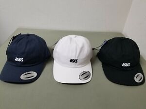 New Asics Adjustable Strap Classic Sports Cap.  3 Colors To Choose.