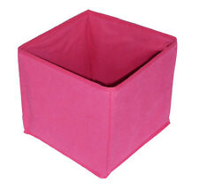Pink Fold Up Bedroom Storage Box Cube, Lightweight Non Woven (20 x 22 x 22 cm)