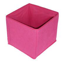 Rose Plier Chambre Boite De Rangement Cube, Léger Non tissé (20 x 22 x 22 cm)