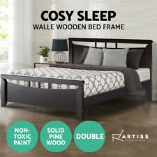Artiss Double Wooden Timber Bed Frame WALLE Kids Adults Mattress Base Size