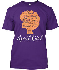 April Smart Black Girl Birthday - Strong Powerful Love Hanes Tagless Tee T-Shirt