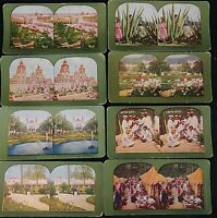 Vintage Stereoscope Cards Stereoview Lot Of 8 Island Scenes and Mexico