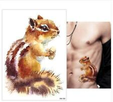 Temporary Tattoo Stickers Body Art Waterproof Watercolor chipmunk