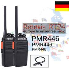 2xPMR446 Funkgeräte Retevis RT24 0.5W 16Kanäle UHF VOX Walkie Talkie +USB