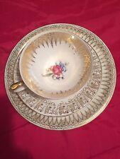 Cup, Saucer, and Dessert Plate Bavaria Elfenbein Porzellan