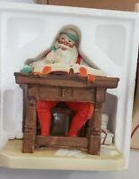 Vintage 1980 NORMAN ROCKWELL Checking His List Ceramic Figurine Santa Christmas