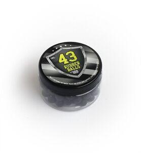 100 x Hard Rubber Balls Paintballs Reballs 43 Cal. T4E RAM Shooting Defense