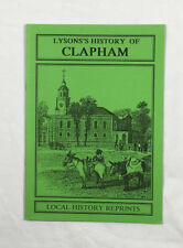 Lysons's History of Clapham- Facsimile copy by Local History Reprints