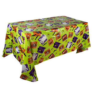 Halloween PVC Plastic Tablecloth Dining Table Cloth Cover Party Decor Wipe Clean
