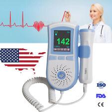 Us Lcd Fetal Doppler 3Mhz Prenatal Heart Rate Monitor Baby Heart Beat Monitor Ce