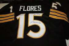 eee537659 OAKLAND RAIDERS  15 TOM FLORES SIGNED THROWBACK JERSEY SB XV   XVIII CHAMPS  JSA