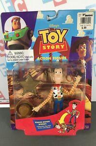 Original First Run 1996 Thinkway Toy Story Series 2 Knock Down Woody Figure