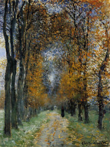 The Avenue by Claude Monet  Giclee Canvas Print Repro