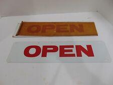 """Vintage """"Open"""" Nos 2 Sided Metal Real Estate Banner Sign Lowen"""