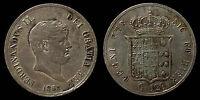 pci1061) Napoli Due Sicilie Ferdinando II piastra 1857 TONED !!!