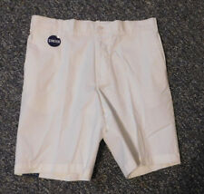 IZOD Mens White Newport Oxford Stretch Flat Front Shorts Size 32